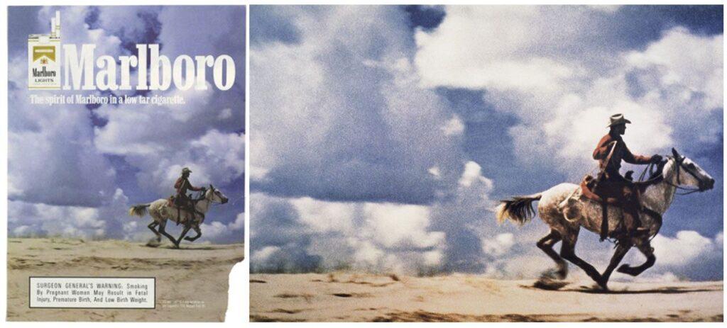 Comparación entre la publicidad de Marlboro y la obra de Prince